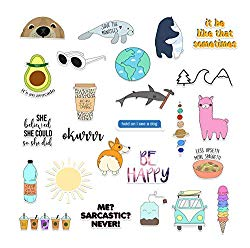 RipDesigns – 25 VSCO Stickers for Water Bottles, Laptops (Series 8)