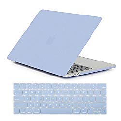 "Se7enline 2016/2017/2018/2019 MacBook Pro 13 Case Soft-Touch Frosted Plastic Hard Cover for MacBook Pro 13"" A1706/A1708/1989/A2159 with/Without Touch Bar Touch ID with Keyboard Skin, Serenity Blue"