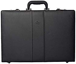 Solo New York Grand Central Attaché Case with Dual Combination Locks – Attaché Case for Men – Hard-Sided Briefcase – Large Capacity – Black