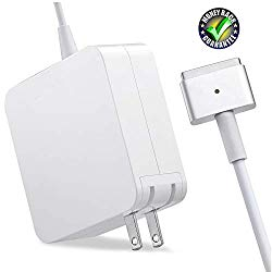 SorsnA Charger,Replacement for MacBook Air Charger with 11Inch 13 Inch Display After Mid 2012 Ac 45W Magsafe 2 Power Adapter T-tip Connector