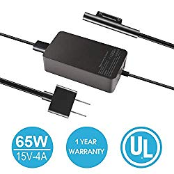 Surface Book Surface Pro Charger 65W 15V 4A AC Power Adapter Supply for Microsoft Surface Book 2 Surface Pro 3/4/5/6 Surface Go Surface Laptop 2 with USB Charging Port and 6ft Cord fit Model 1706