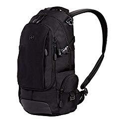 SWISSGEAR Compact Organizer Backpack | Narrow Profile Daypack| Men's and Women's – Black