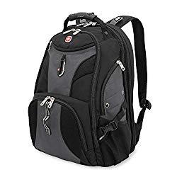SwissGear Travel Gear 1900 Scansmart TSA Laptop Backpack – Gray