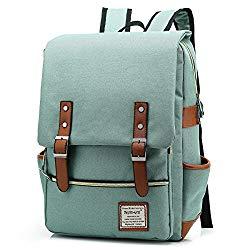 UGRACE Slim Business Laptop Backpack Elegant Casual Daypacks Outdoor Sports Rucksack School Shoulder Bag for Men Women, Tear Resistant Unique Travelling Backpack Fits up to 15.6Inch MacBook in Green