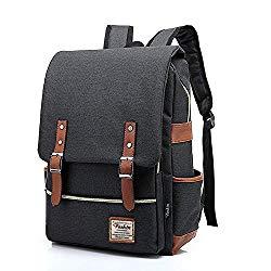 Unisex Professional Slim Business Laptop Backpack, Feskin Fashion Casual Durable Travel Rucksack Daypack (Waterproof Dustproof) with Tear Resistant Design for Macbook, Tablet – Dark Grey