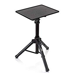 """Universal Laptop Projector Tripod Stand – Computer, Book, DJ Equipment Holder Mount Height Adjustable Up to 35 Inches w/ 14"""" x 11"""" Plate Size – Perfect for Stage or Studio Use – PylePro PLPTS2"""