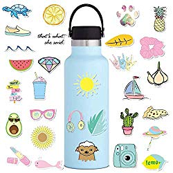 Vsco Stickers for Hydro Flasks 35 Pack, Laptops Sticker for Teens Vsco Girl Stuff, Cute Peppa Aesthetic Trendy Waterproof Vinyl Decal for Hydroflask Water Bottle Skateboard Outdoor Phone Case