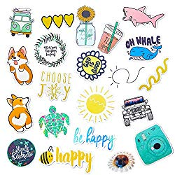 Vsco Stickers for Water Bottle 50 Pcs Trendy Stickers Waterproof Cute Aesthetic Laptop Luggage Stickers Pack for Girls Teens Kids