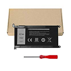 WDX0R Laptop Battery for Dell Inspiron 13 5368 5378 5379 7368 7378 Inspiron 14-7460 Inspiron 15 5565 5567 5568 5578 7560 7570 7579 7569 P58F Inspiron 17 5765 5767 FC92N 3CRH3 T2JX4 CYMGM – 42Wh/11.4V