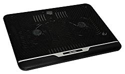 XtremPro Laptop Cooler Cooling Pad, Mat for 12″ 13″ 14″ inch, Ultra Slim Portable USB Powered Borderless Metal Mesh Surface w/ 2 Quiet Fans at 1500 RPM w/LED Light – Black 2 Fans (11067)