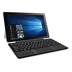 2018 RCA Cambio 2-in-1 10.1″ Touchscreen Tablet PC, Intel Quad-Core Processor, 2GB RAM, 32GB SSD, Detachable Keyboard, Webcam, WIFI, Bluetooth, Windows 10, Black (Renewed)