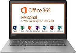 2019 Lenovo 14″ HD Laptop Computer, Intel Celeron N3350 up to 2.4GHz Processor, 2GB RAM, 32GB eMMC Flash Memory, HDMI, 802.11AC WiFi, Bluetooth 4.0, USB 3.0, 1-Year Microsoft Office 365, Windows 10