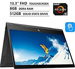 2019 Newest HP ENVY x360 Premium 13.3″ 2-in-1 FHD IPS Touchscreen Laptop, AMD Ryzen 5 2500U up to 3.60GHz, 8GB RAM, 512GB M.2 SSD, Backlit Keyboard, Wireless-AC, Bluetooth, Windows 10, Dark Ash Silver