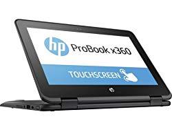 HP X360 ProBook G1 11.6-inch Touchscreen 2-in-1 Convertible Laptop PC (Intel Dual Core N3350 1.1GHz, 4GB RAM, 128GB SSD, HDMI, Bluetooth, Webcam, WiFi, Windows 10 Professional) Black