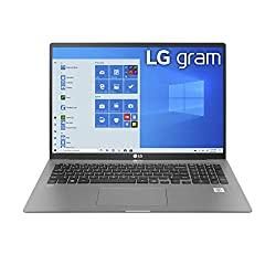 LG Gram Laptop – 17″ IPS WQXGA (2560 x 1600) Intel 10th Gen Core i7 1065G7 CPU, 16GB RAM, 1TB M.2 MVMe SSD (512GB x2), 17 Hour Battery, Thunderbolt 3 – 17Z90N (2020)